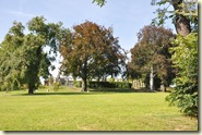 der Rosengarten neben dem Schloss