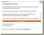 Fälschung einer Sparda-Mail